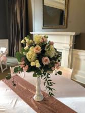 Blush Centerpiece  Wedding