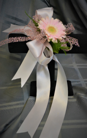 BLUSH GOLD CORSAGE IN STORE PICK UP ONLY WRIST RIBBON TIE CORSAGE