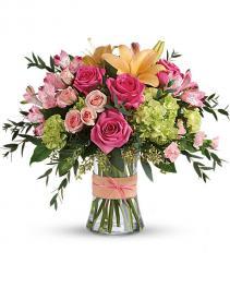 Blush Life Bouquet Gathering vase