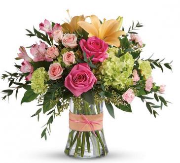 Blush Life Fresh Vase Arrangement