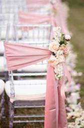 Blush Pink Chair Decoration