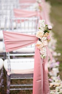 Blush Pink Chair Decoration