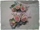 Blush Pink Roses Wrist Corsage