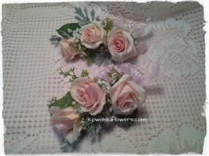 Blush Pink Roses Wrist Corsage in Whitesboro, NY | KOWALSKI FLOWERS INC.