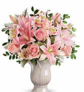 Blush pinks and whites  Vase