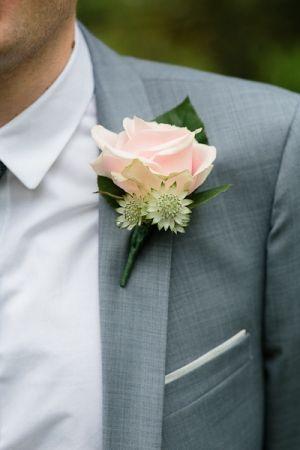Blush Rose Boutiniere