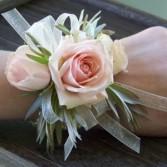 Blush roses wristlet Corsage