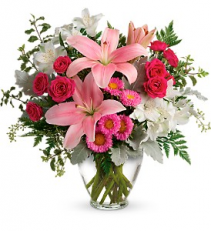 Blush Rush Bouquet     TEV55-5 Vase Arrangement
