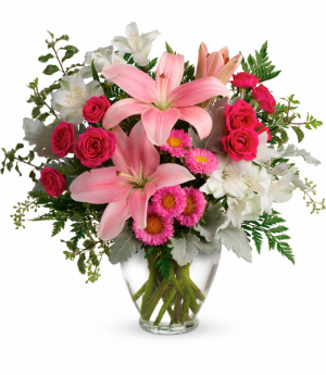 Blush Rush Bouquet Vase in Calgary, AB | Posh Flowers Ltd