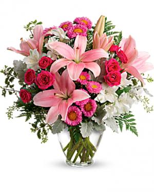 Blush Rush Vase Arrangement in Cabot, AR   Petals & Plants, Inc.