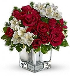 Blush with Red n White Same Day Flower Delivery In DC