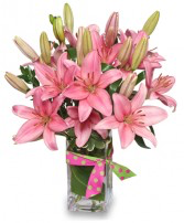 Blushing Beauty Bouquet Vase Arrangement