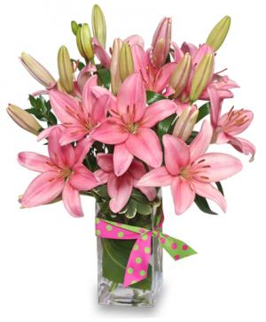 Blushing Beauty Bouquet in Pharr, TX | Aurora Flower Shop