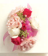 Blushing beauty corsage
