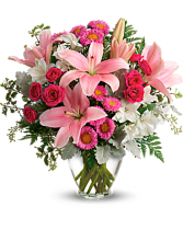 Blushing Beauty Vase Arrangement