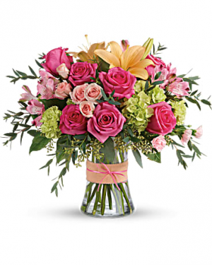 BLUSHING BEAUTY Vase Arrangement in Longview, TX   ANN'S PETALS