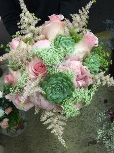 Blushing Beauty  Bridal Bouquet in Morris, IL | FLORAL DESIGNS & GIFTS