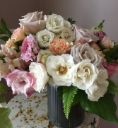 Blushing Bloom Tin Arrangement