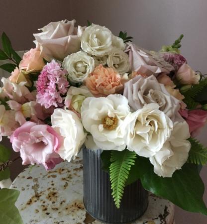 Blushing Bloom Tin Arrangement