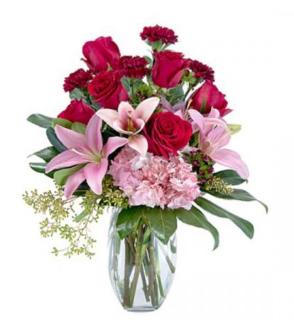Blushing blooms Vase