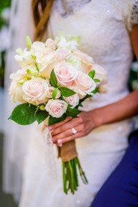 Blushing Bride  Blush pink roses, greenery, and orchids in Milwaukie, OR | Poppies and Paisley Events