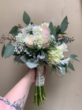 blushing bride wedding bouquet