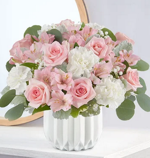 Blushing in Pink Mixed Floral Bouquet