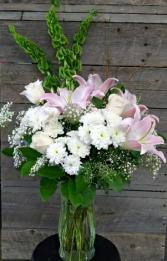Blushing Lilies vase
