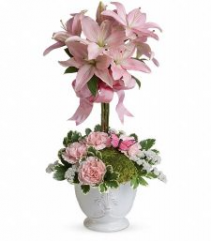 Blushing Lily Topiary