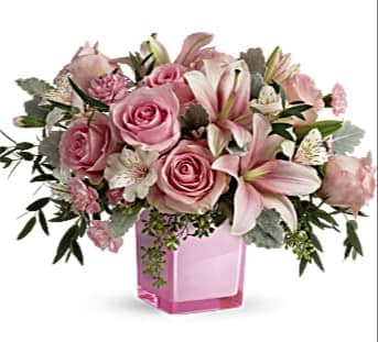 Blushing Love Fresh Arrangement