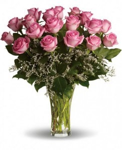 Blushing Pink Rose Arrangement