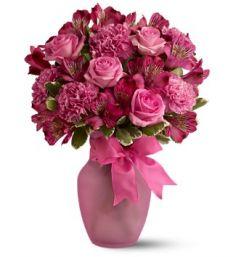Blushing Pink Vase Arrangement