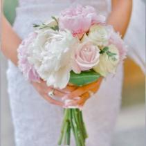 Blushing Pinks and White Hand Tied Bouquet