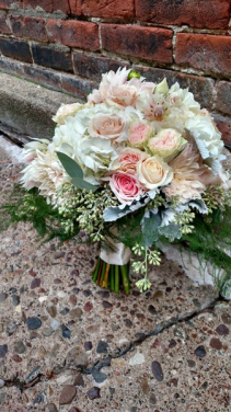 Blushing Princess Bridal boquet