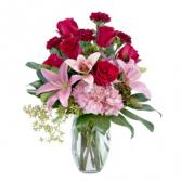 Blushing Rose Garden Arrangement