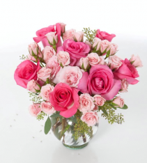 Blushing Vase Arrangement