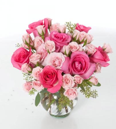 Blushing Vase Arrangement
