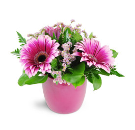 Blushing vibrantly - 911 Flower arrangement