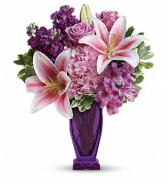 Blushing Violet - 421 Vase Arrangement