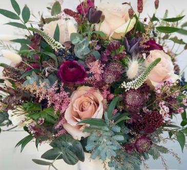Blush/lavender/purple Bridal  Wedding Bouquet