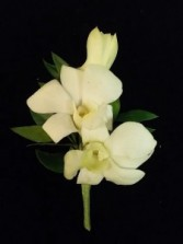 BO-4 Dendrobium Orchid Boutonniere