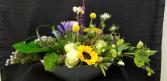 Boat Load of Flowers Modern Arrangement