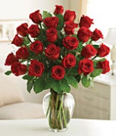 BOGO SPECIAL!!  Buy 1dz  Roses Get 1dz Red Roses Free!! Arranged in Glass Vase