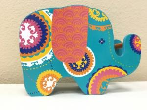 Bohemian Elephant Piggy Bank in Riverside, CA | Willow Branch Florist of Riverside