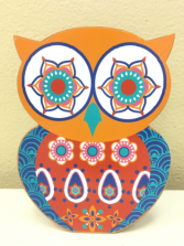 Bohemian Owl  Piggy Bank