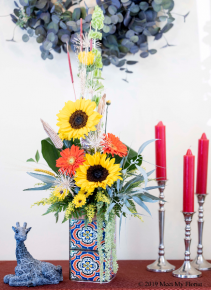 Boho Festival Floral Arrangement