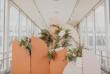 Boho Florals Backdrop Wedding