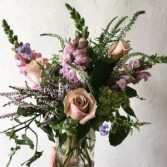 Boho Garden Mason Jar Arrangement