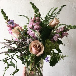 Boho Garden Mason Jar Arrangement  in Toronto, ON | BOTANY FLORAL STUDIO