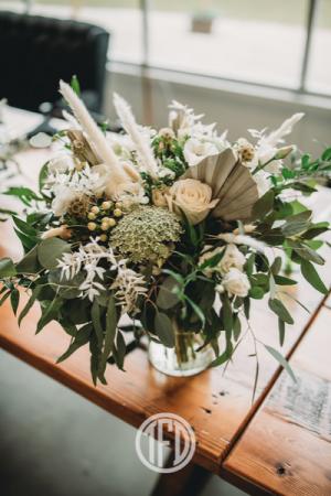 Boho White Florals Bridal bouquet